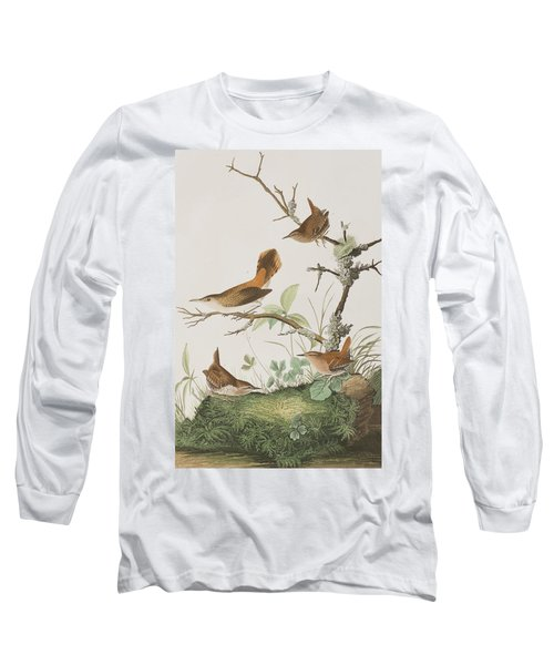Winter Wren Or Rock Wren Long Sleeve T-Shirt