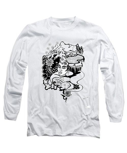 Winter Long Sleeve T-Shirt by Yelena Tylkina