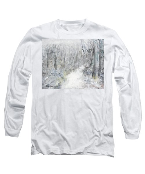 Long Sleeve T-Shirt featuring the painting Winter's Day by Robin Maria Pedrero
