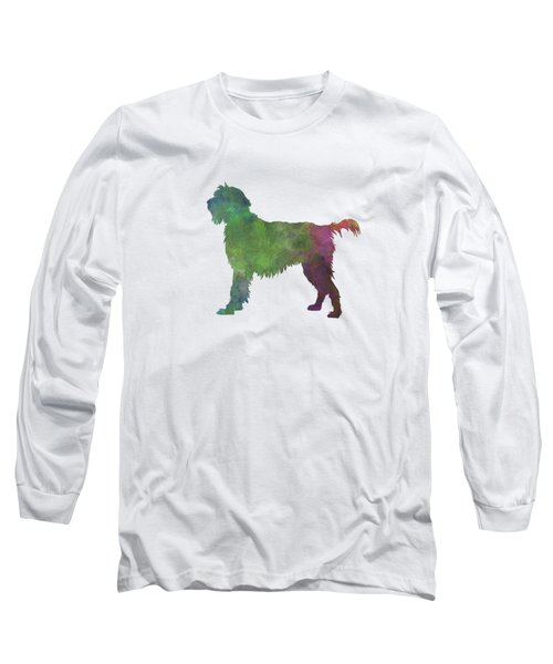 Wirehaired Pointing Griffon Korthals In Watercolor Long Sleeve T-Shirt by Pablo Romero