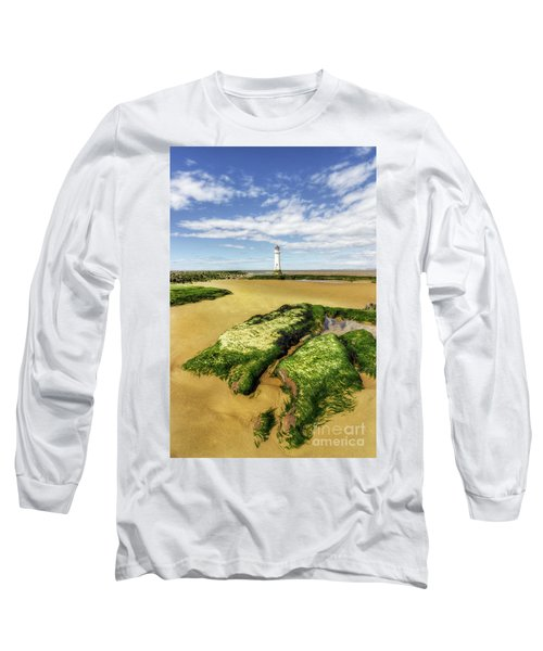 Wirral Lighthouse Long Sleeve T-Shirt by Ian Mitchell