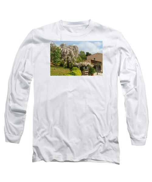 Long Sleeve T-Shirt featuring the photograph Wisteria by Richard Patmore