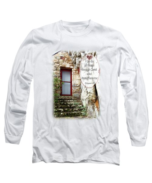 With Me - Verse And Heart Long Sleeve T-Shirt
