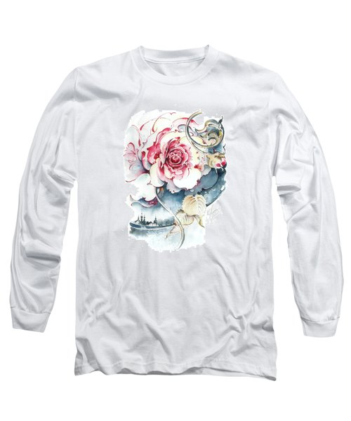 Long Sleeve T-Shirt featuring the painting Without Fear Of The Storm by Anna Ewa Miarczynska