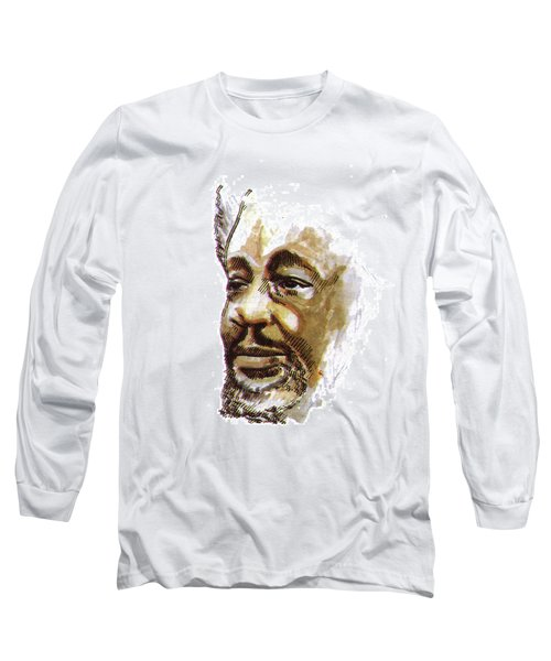 Wole Soyinka Long Sleeve T-Shirt by Emmanuel Baliyanga