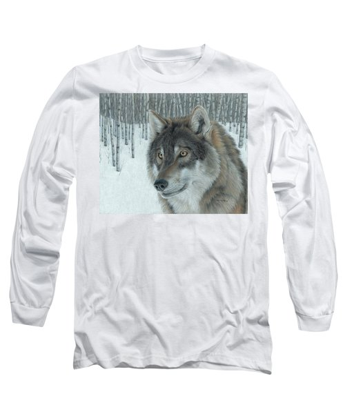 Wolf In Aspens Long Sleeve T-Shirt