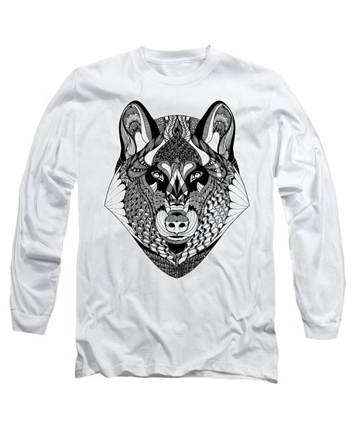 Wolf Long Sleeve T-Shirt by Jan Steinle