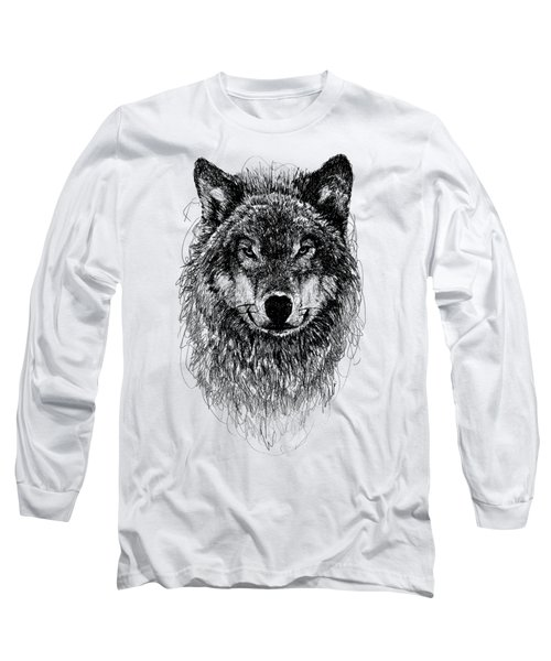 Wolf Long Sleeve T-Shirt by Michael Volpicelli