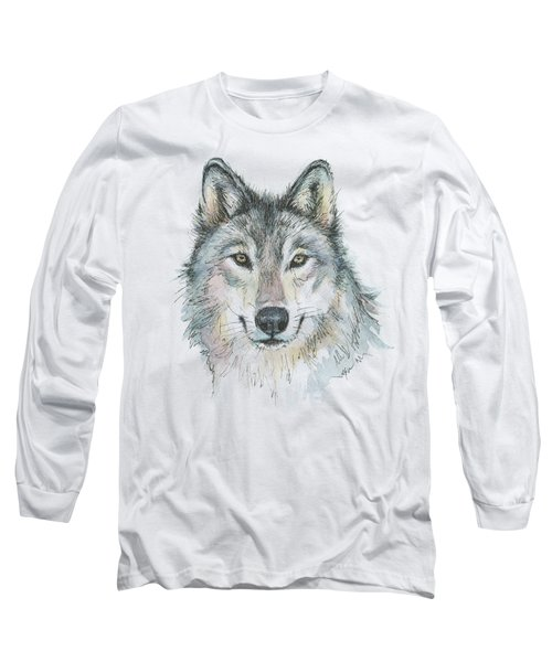 Wolf Long Sleeve T-Shirt by Olga Shvartsur
