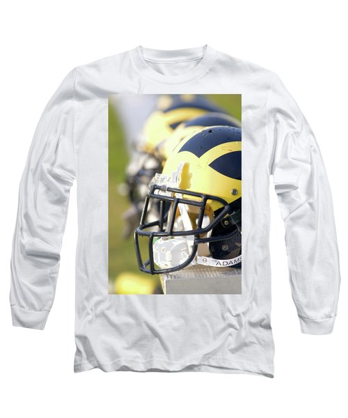 Wolverine Helmets On A Bench In The Morning Long Sleeve T-Shirt