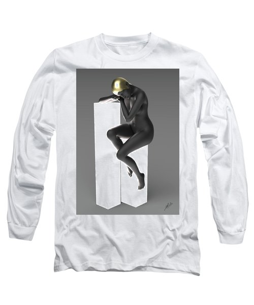 Woman Art Deco Lamp Long Sleeve T-Shirt