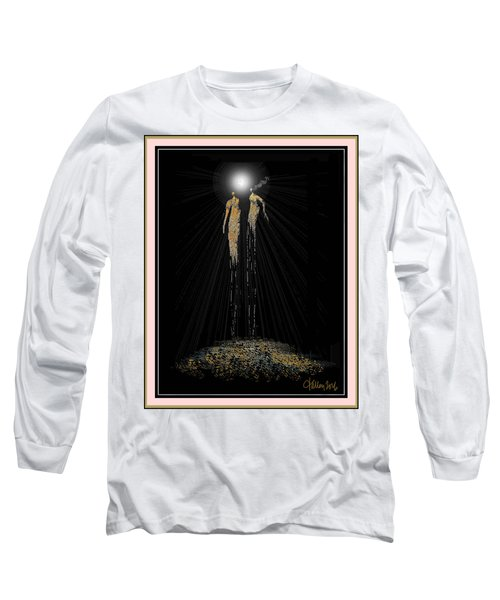 Women Chanting - Full Moon On The Mountain Long Sleeve T-Shirt