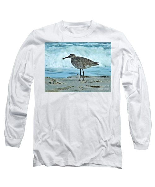 Wonderful Willet  Long Sleeve T-Shirt by Christy Ricafrente