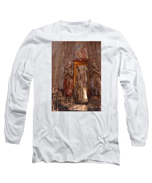 Wonders Door To The Luxor Long Sleeve T-Shirt by Te Hu
