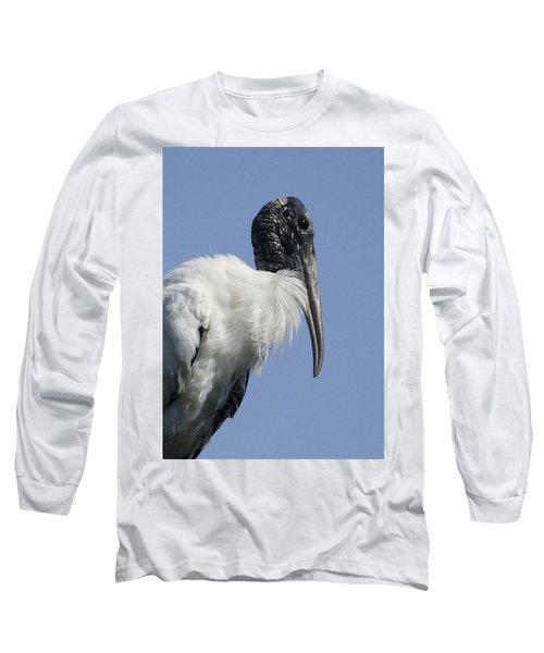 Wood Stork Portrail Long Sleeve T-Shirt