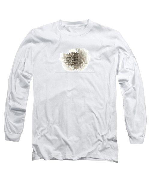 Wooden Bridge Long Sleeve T-Shirt by Maciek Froncisz