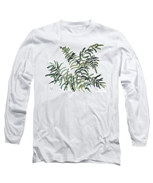 Woodland Maiden Fern Long Sleeve T-Shirt by Laurie Rohner