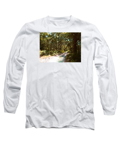 Long Sleeve T-Shirt featuring the photograph Woodsy Trail by Ginny Schmidt