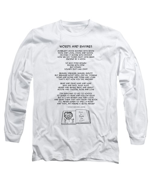 Words And Rhymes Long Sleeve T-Shirt