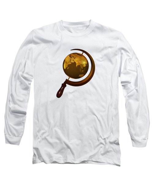 Workers Of The Globe Long Sleeve T-Shirt by Nicholas Ely