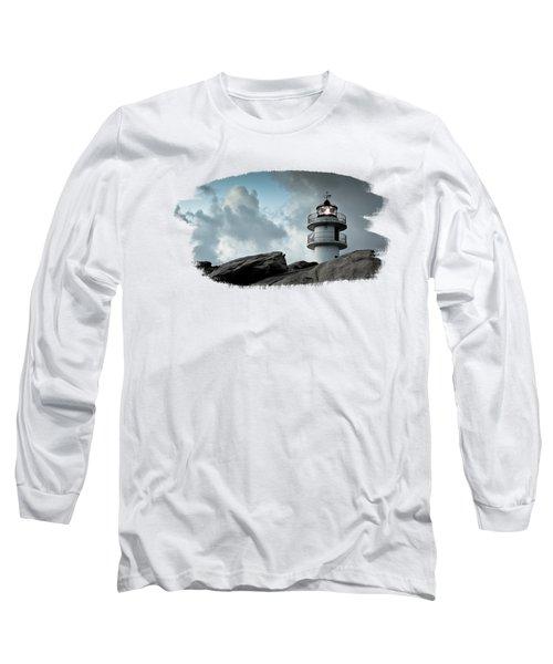 Working Lighthouse Isolated On White Long Sleeve T-Shirt