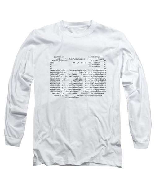 World Cities To Visit Long Sleeve T-Shirt