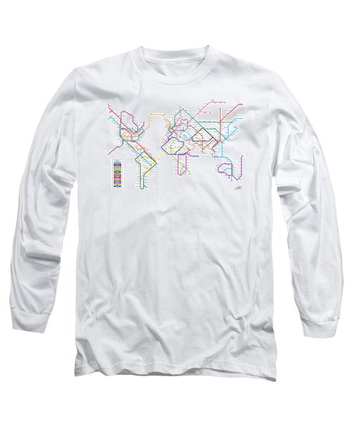 World Metro Tube Subway Map Long Sleeve T-Shirt