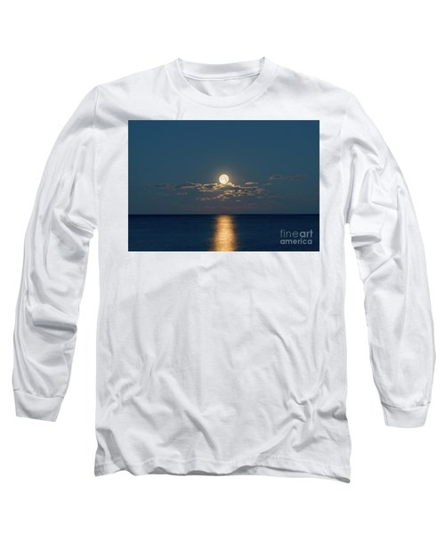 Worm Moon Over The Atlantic Long Sleeve T-Shirt