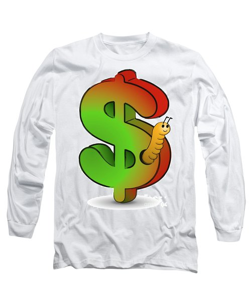 Wormy Dollar Long Sleeve T-Shirt