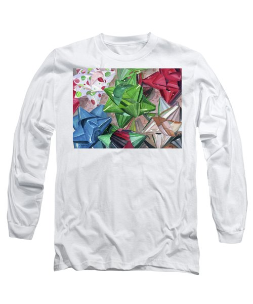 Long Sleeve T-Shirt featuring the painting Wrap It Up by Lynne Reichhart