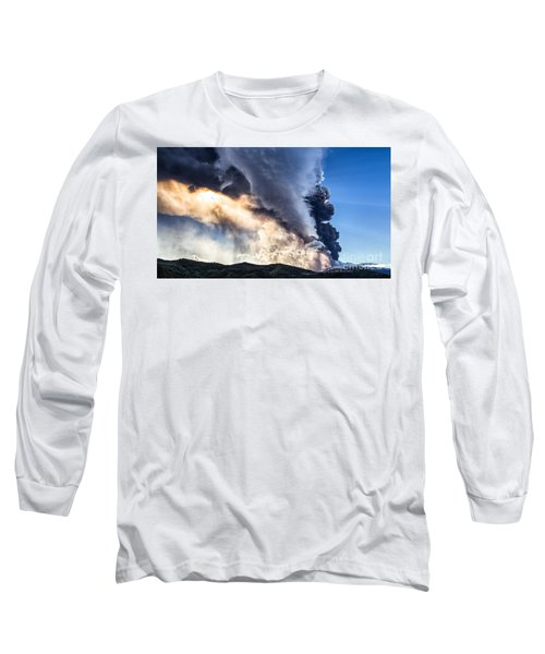 Wrath Of Nature Long Sleeve T-Shirt by Giuseppe Torre