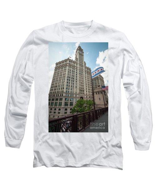 Wrigley Building Long Sleeve T-Shirt