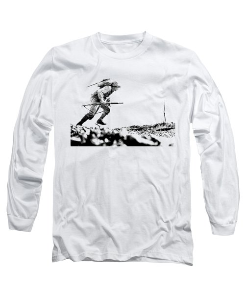 Wwii Marine Crosses Death Valley Okinawa Long Sleeve T-Shirt