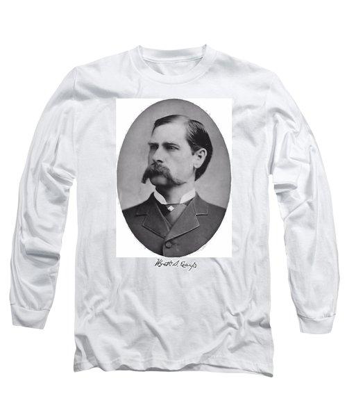 Wyatt Earp Autographed Long Sleeve T-Shirt