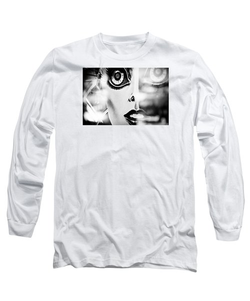 Xenon - Black And White Long Sleeve T-Shirt by Colleen Kammerer