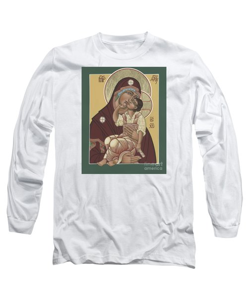Long Sleeve T-Shirt featuring the painting Yakhrom Icon Of The Mother Of God 258 by William Hart McNichols