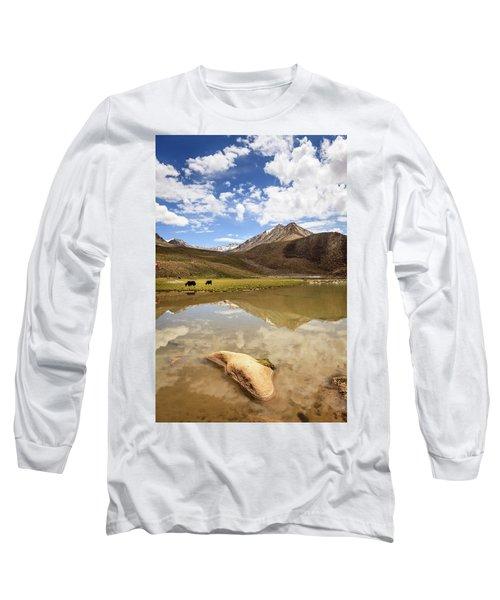Yaks In Ladakh Long Sleeve T-Shirt