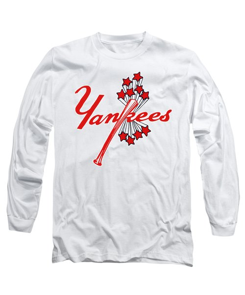 Long Sleeve T-Shirt featuring the digital art Yankees Vintage by Gina Dsgn