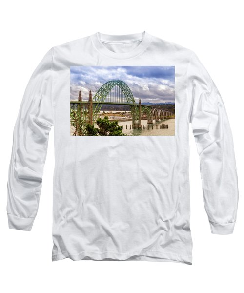 Long Sleeve T-Shirt featuring the photograph Yaquina Bay Bridge by James Eddy