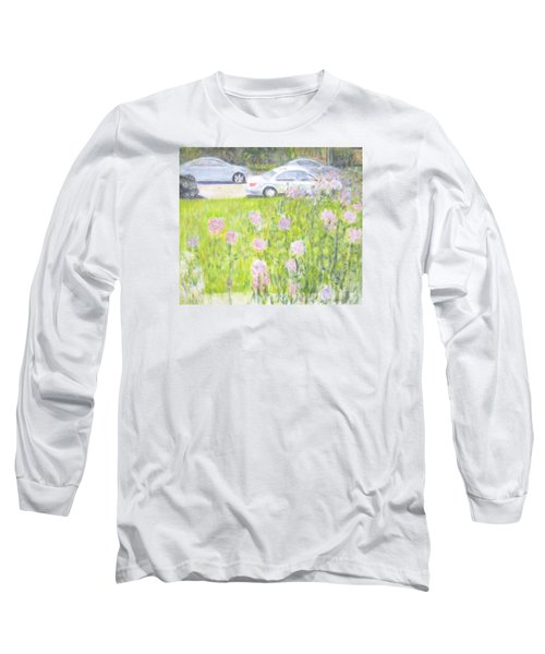 Yard Flowers  In Chicago Long Sleeve T-Shirt