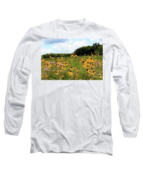 Yellow Cone Flowers Long Sleeve T-Shirt