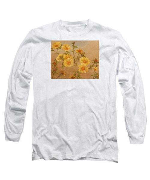 Yellow Daisies Long Sleeve T-Shirt
