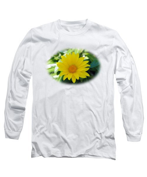 Yellow Flower T-shirt Long Sleeve T-Shirt by Isam Awad