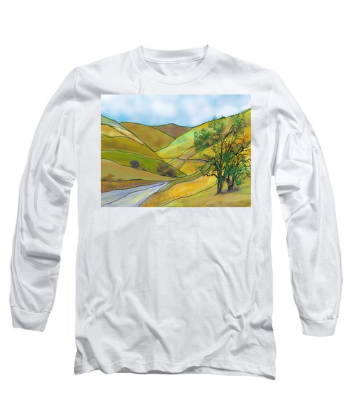 Yellow Foothills Long Sleeve T-Shirt