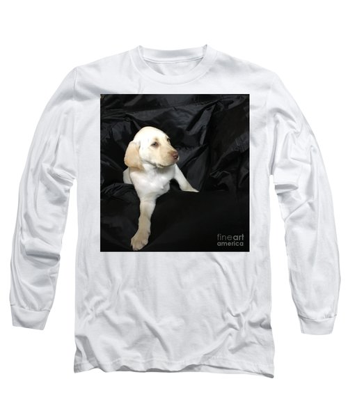 Yellow Lab Puppy Sadie Long Sleeve T-Shirt