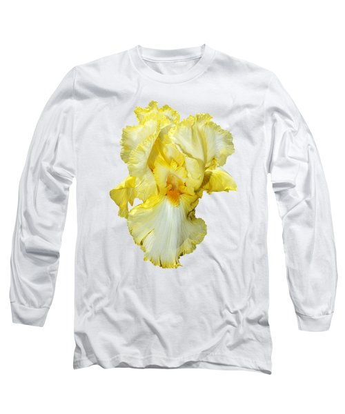 Yellow Mist Iris Long Sleeve T-Shirt by Phyllis Denton