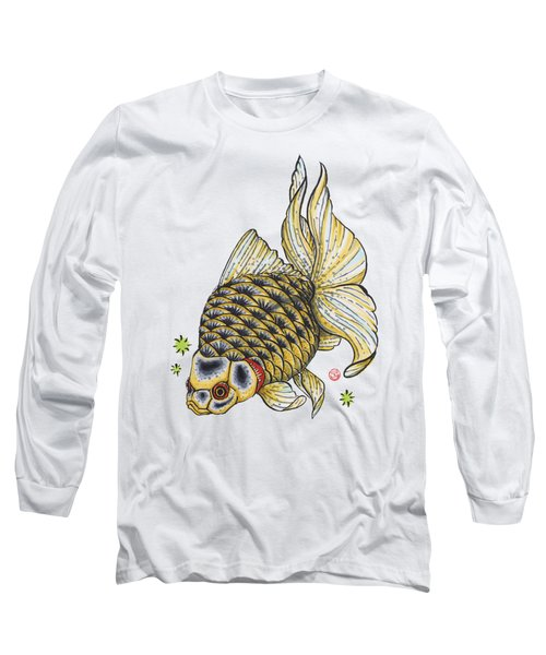 Yellow Ryukin Long Sleeve T-Shirt by Shih Chang Yang