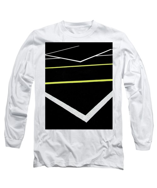 Yellow Traffic Lines In The Middle Long Sleeve T-Shirt