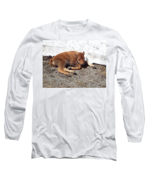 Yellowstone Bison Calf  Long Sleeve T-Shirt