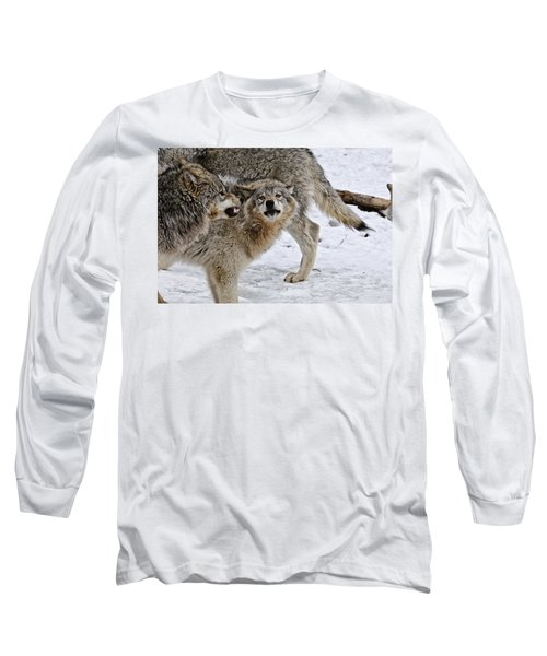 Long Sleeve T-Shirt featuring the photograph Yes Dear by Michael Cummings